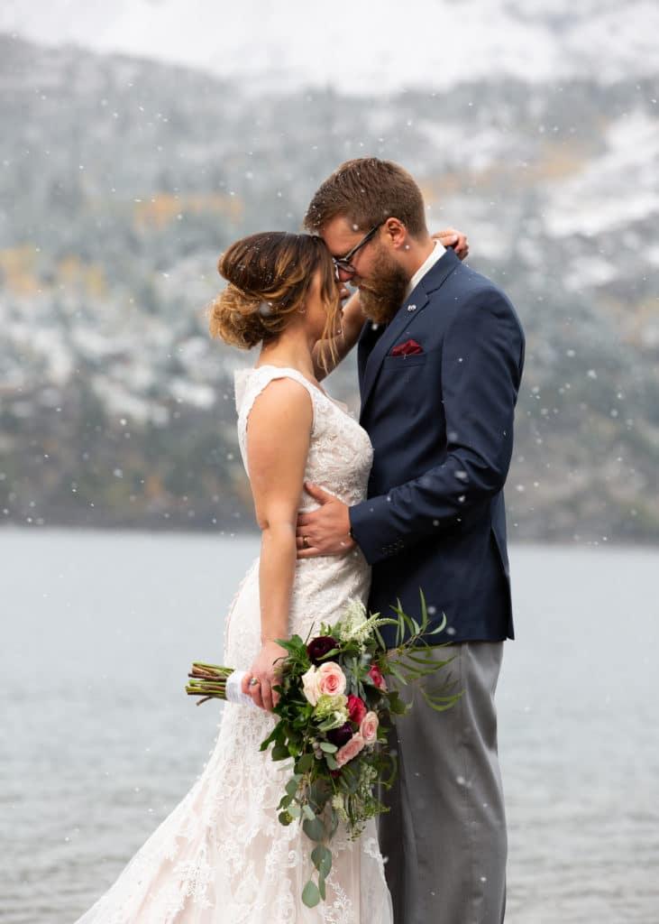 winter wedding waterton